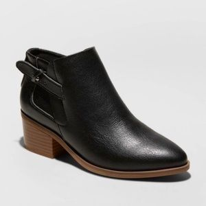 Black A New Day Faux Leather Buckle Bootie, NWT